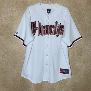 Diamondbacks Men's Majestic White Replica Jersey